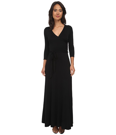 Brigitte Bailey - Cathryn Wrap Maxi Dress (Black) Women's Dress