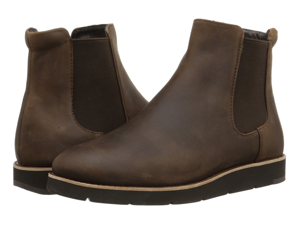 Johnston & Murphy - Bree Gore Ankle Boot (Brown Oiled Waterproof Nubuck) Women