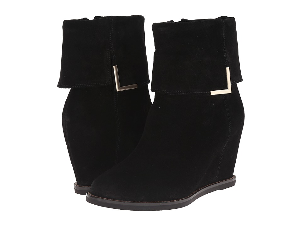Johnston & Murphy Brynn Cuff Bootie (Black Oiled Suede) Women
