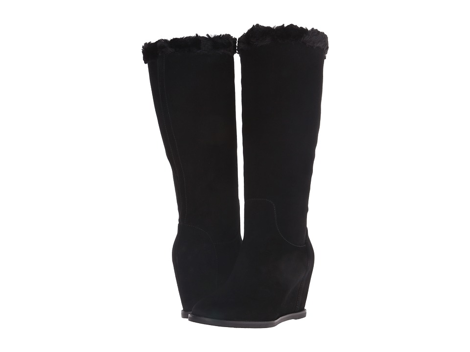 Johnston & Murphy - Brynn Pull-On Boot (Black Suede) Women's Zip Boots