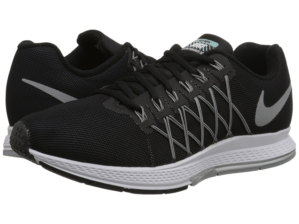 Nike - Air Zoom Pegasus 32 Flash (Black/Pure Platinum/Cool Grey/Reflect Silver) Women's Running Shoes