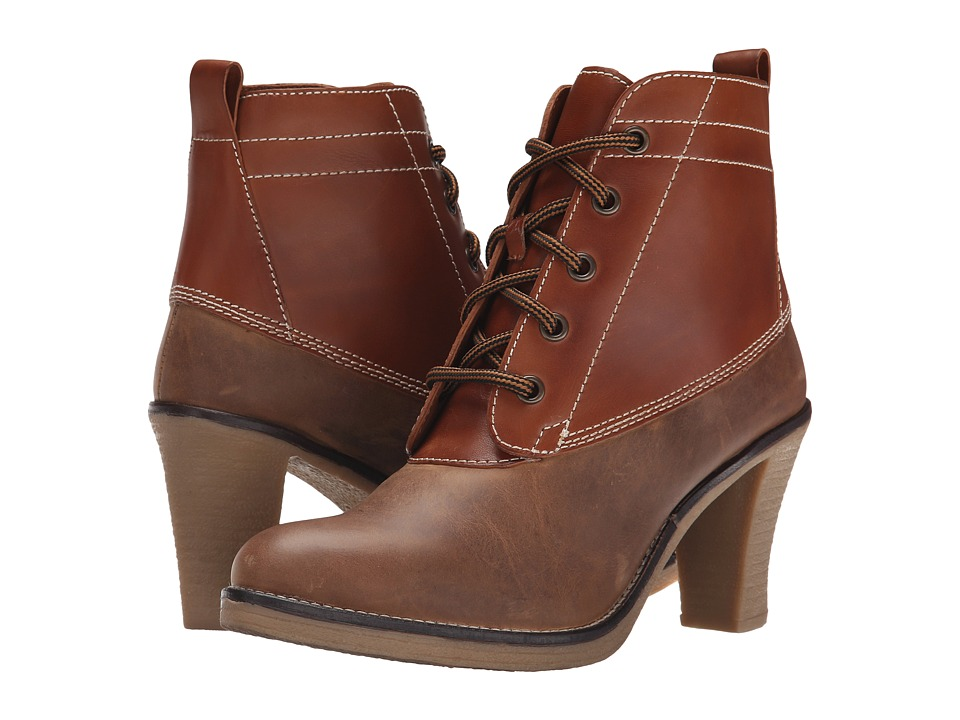 Johnston & Murphy - Jeanie Lace-Up Duck Boot (Tan Oiled Nubuck/Tan Vachetta) Women's Dress Lace-up Boots