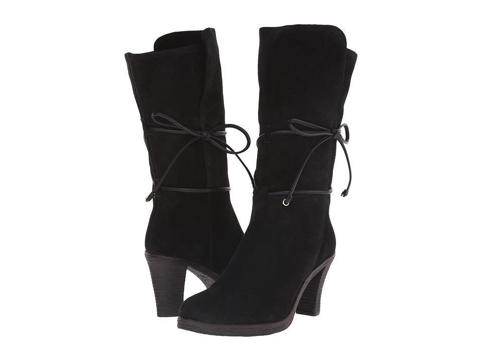 Johnston & Murphy - Jeanie Wrap Bootie (Black Suede) Women's Dress Boots