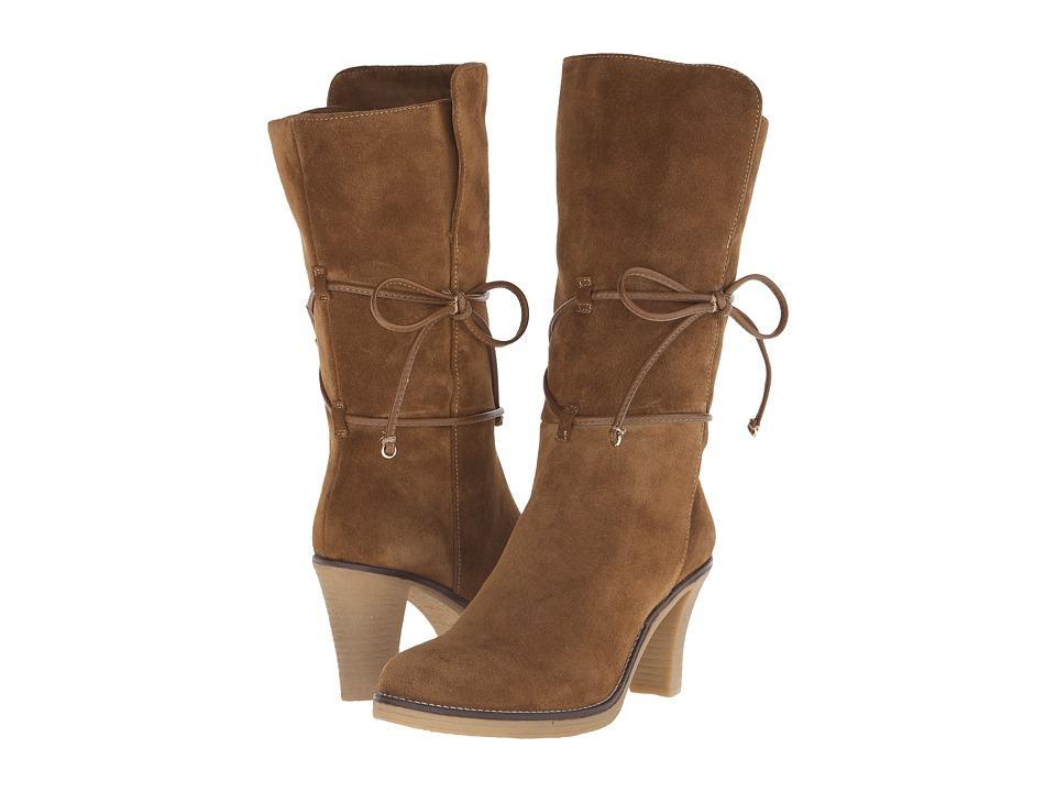 Johnston & Murphy - Jeanie Wrap Bootie (Chestnut Suede) Women's Dress Boots