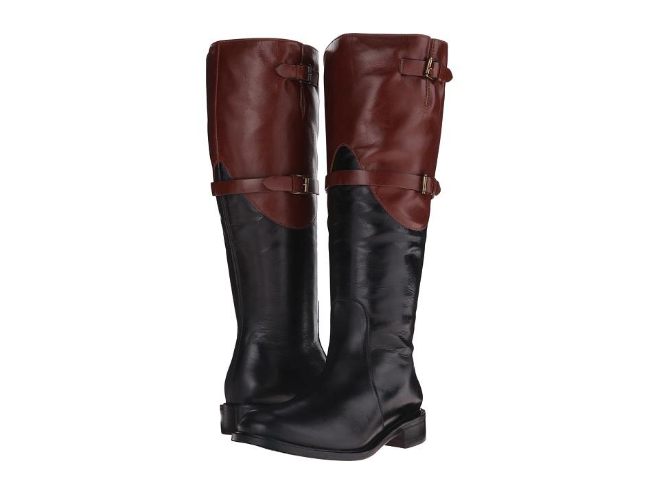 Johnston & Murphy - Lyla Full-Zip Boot (Black/Roast Calfskin) Women's Zip Boots