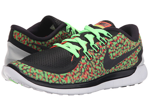 Nike - Free 5.0 Print (Voltage Green/Hyper Orange/White/Black) Women