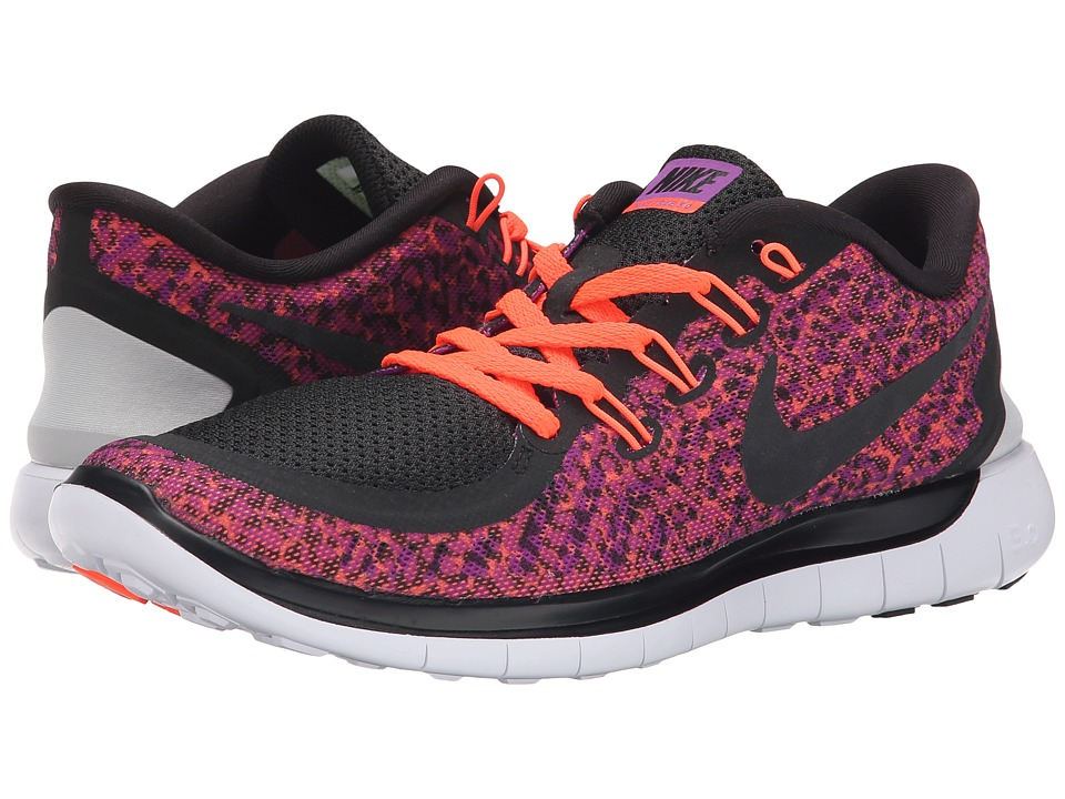 Nike - Free 5.0 Print (Vivid Purple/Hyper Orange/White/Black) Women's Running Shoes