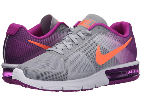 Nike - Air Max Sequent (Wolf Grey/Vivid Purple/White/Hyper Orange) Women's Running Shoes