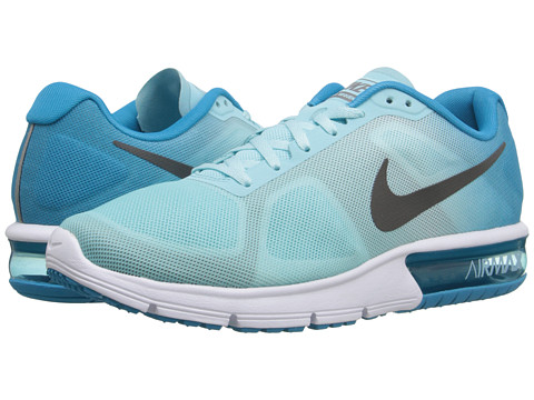Nike - Air Max Sequent (Blue Lagoon/Copa/White/Metallic Dark Grey) Women's Running Shoes