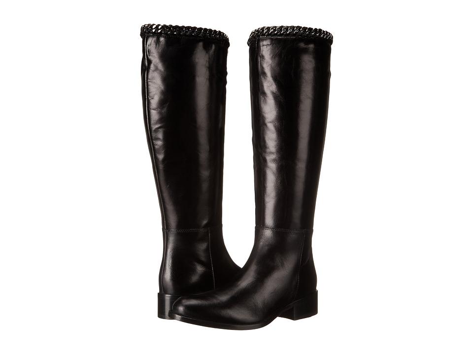 Johnston & Murphy Sari Chain Boot (Black Calfskin) Women