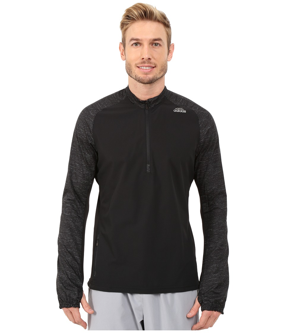 adidas - Supernova Storm 1/2 Zip Jacket (Black) Men's Coat