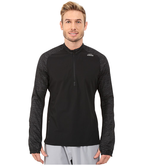 adidas - Supernova Storm 1/2 Zip Jacket (Black) Men
