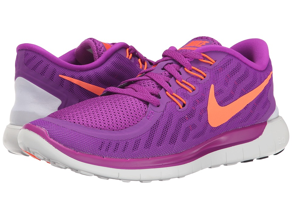 Nike - Free 5.0 (Vivid Purple/Black/Fuchsia Glow/Hyper Orange) Women's Running Shoes