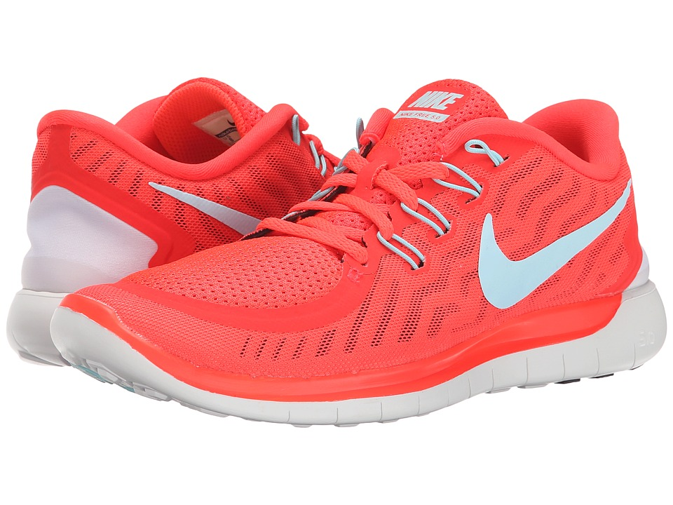 Nike - Free 5.0 (Bright Crimson/Black/Hyper Orange/Copa) Women's Running Shoes