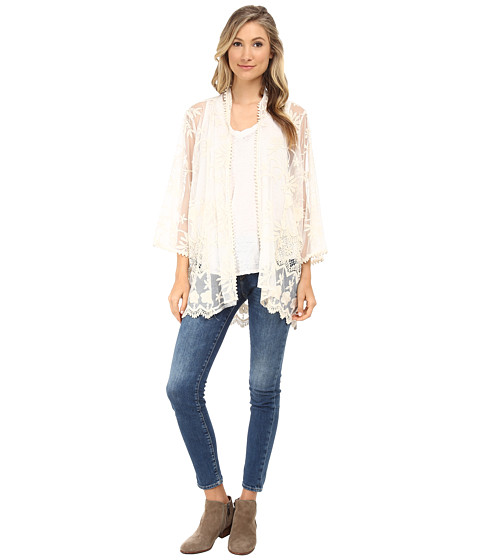 Gabriella Rocha - Clare Lace Cardigan (Cream) Women's Sweater