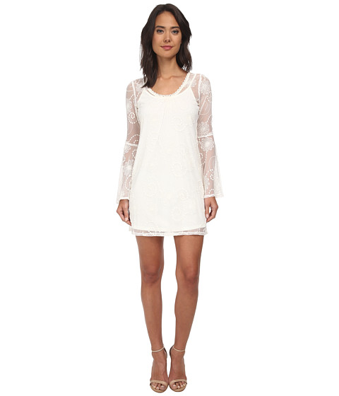 Gabriella Rocha - Lynn Bell Sleeve Lace Dress (Cream) Women's Dress