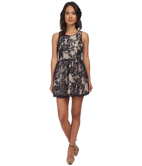 Gabriella Rocha - Cora Lace Sleeveless Bell Dress (Navy) Women