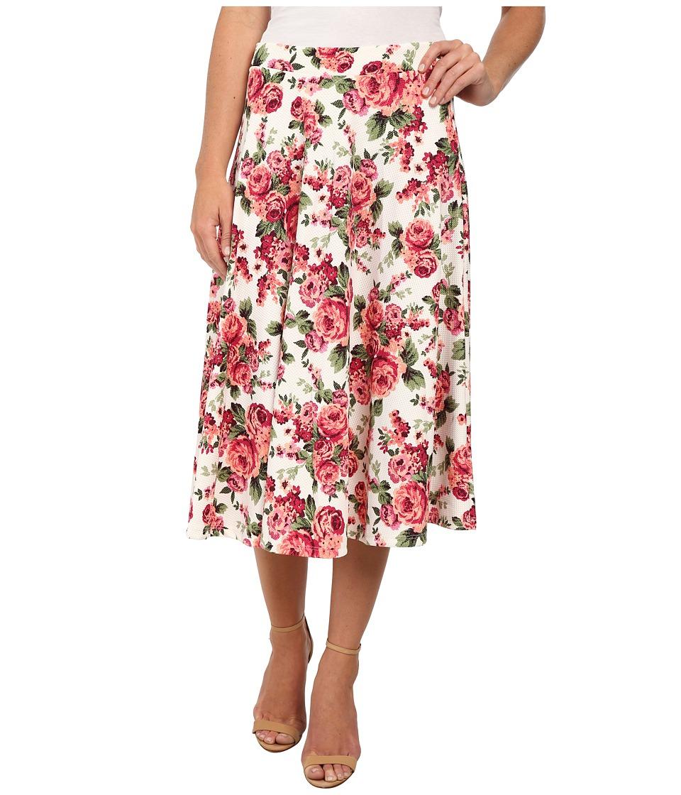 Gabriella Rocha - Selina Floral Print Skirt (Pink) Women's Skirt