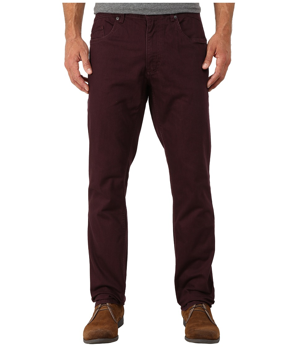 Calvin Klein Jeans - Five-Pocket Slub Twill - Slim Straight (Bordeaux) Men's Casual Pants