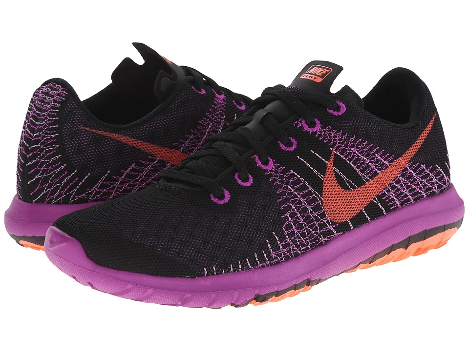 Nike - Flex Flury (Black/Fuchsia Glow/Vivid Purple/Hyper Orange) Women