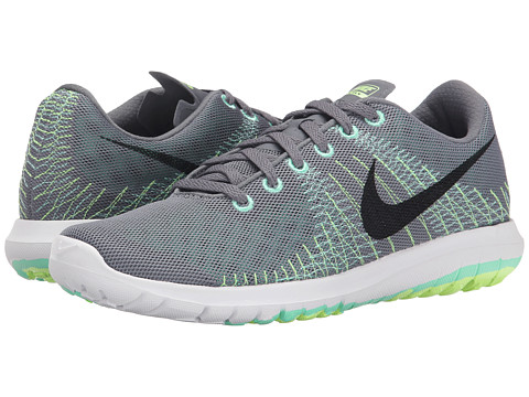 Nike - Flex Flury (Cool Grey/Green Glow) Women