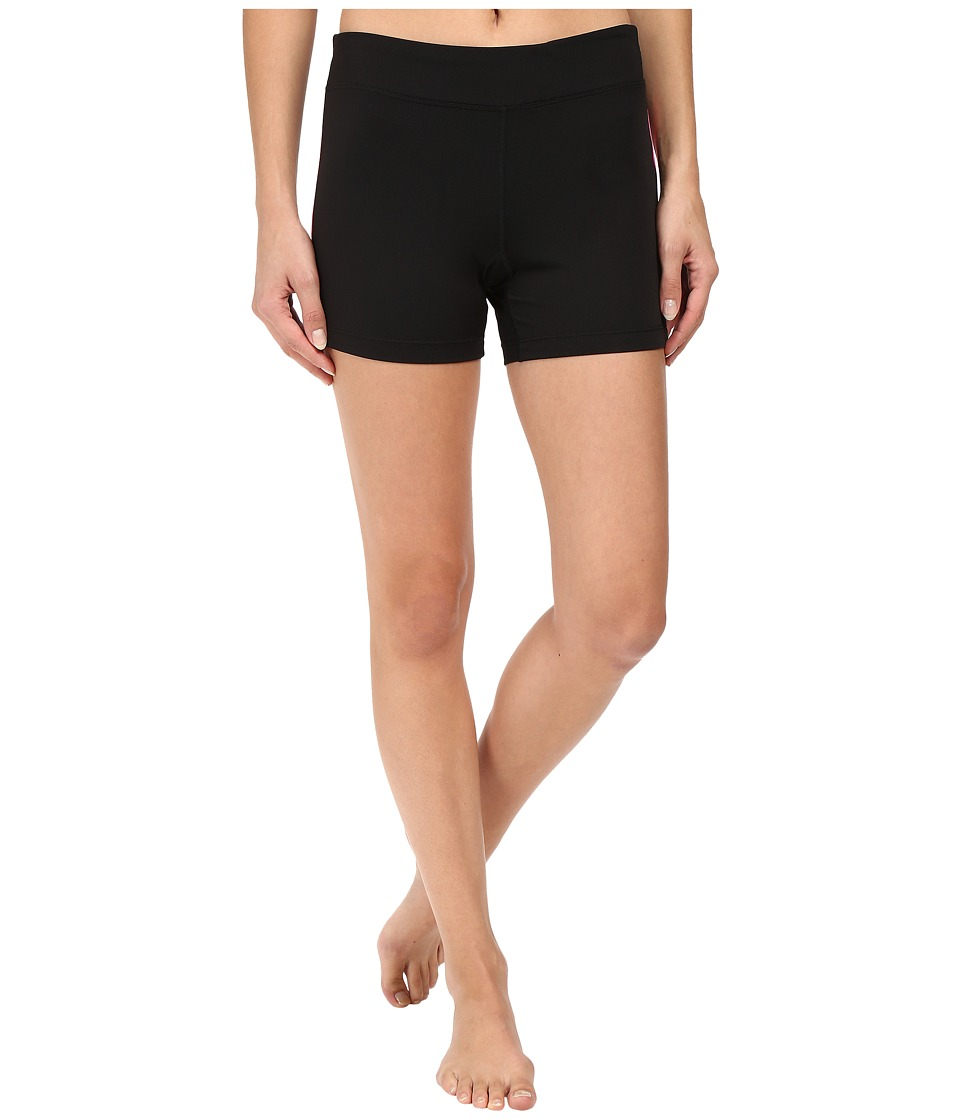 Fila - Side Piped Short (Black/Knockout Pink) Women's Shorts