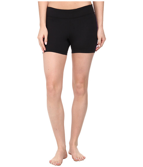 Fila - Side Piped Short (Black/Electric Purple) Women's Shorts