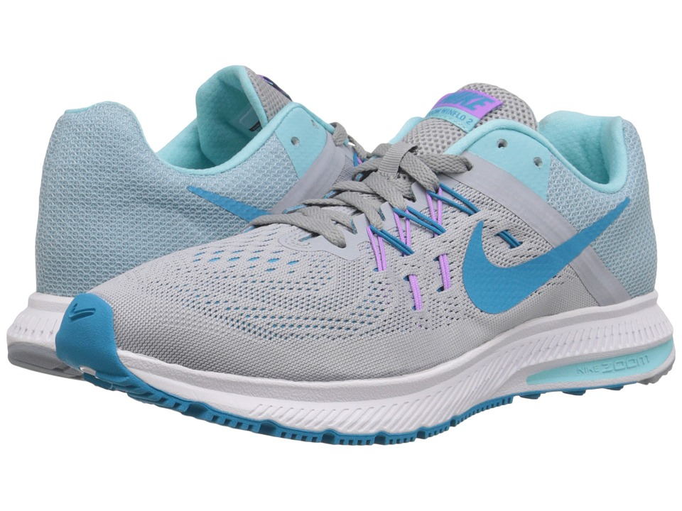 Nike - Zoom Winflo 2 (Wolf Grey/Copa/Fuchsia Glow/Blue Lagoon) Women's Running Shoes