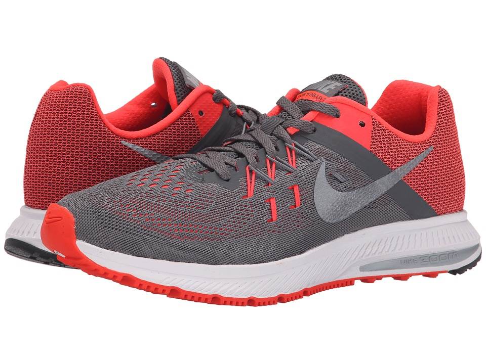 Nike - Zoom Winflo 2 (Dark Grey/Bright Crimson/Wolf Grey/Metallic Cool Grey) Women