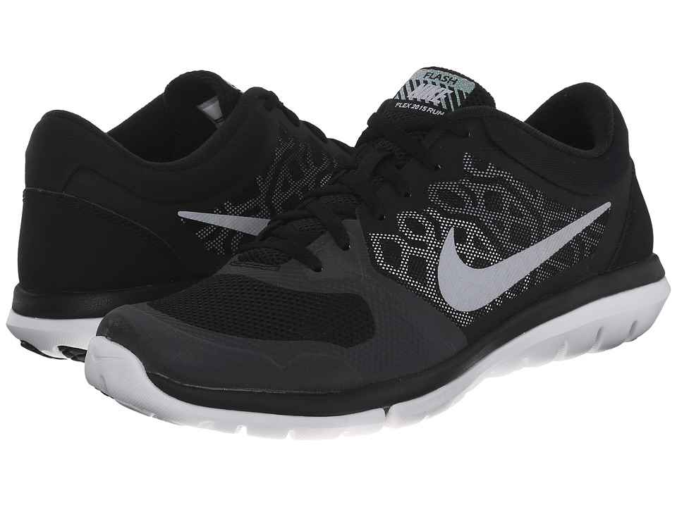 Nike - Flex 2015 RN Flash (Black/Wolf Grey/Green Glow/Metallic Silver) Women's Running Shoes