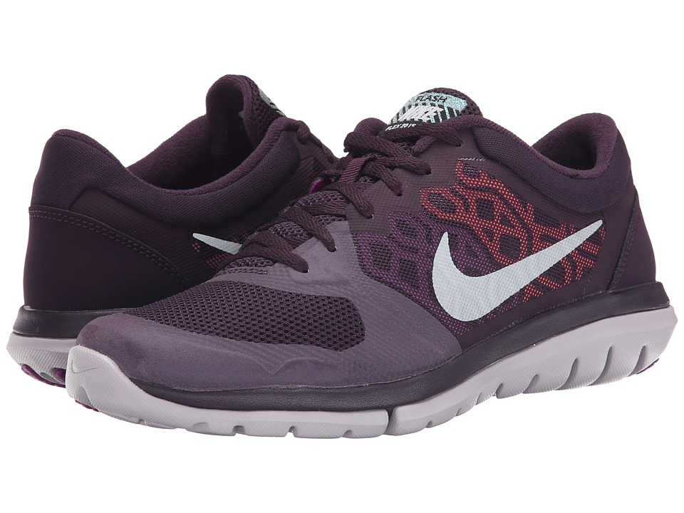 Nike - Flex 2015 RN Flash (Noble Purple/Vivid Purple/Hyper Orange/Metallic Silver) Women