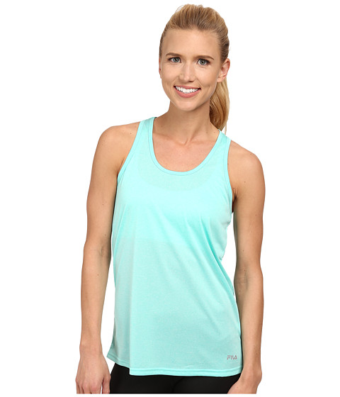 Fila - Move It Loose Tank Top (Aqua Heather) Women's Sleeveless