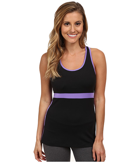 Fila - In The Moment Tank Top (Black/Purple Hebe) Women