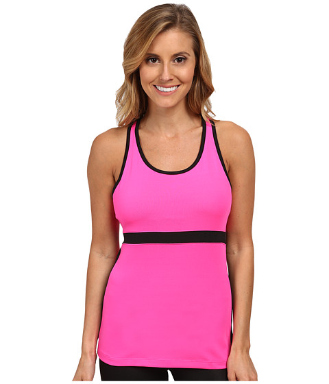 Fila - In The Moment Tank Top (Pink Surprise/Black) Women's Sleeveless
