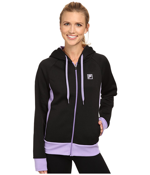 Fila - Full Zip Sweatshirt (Black/Lavender Lady) Women's Sweatshirt