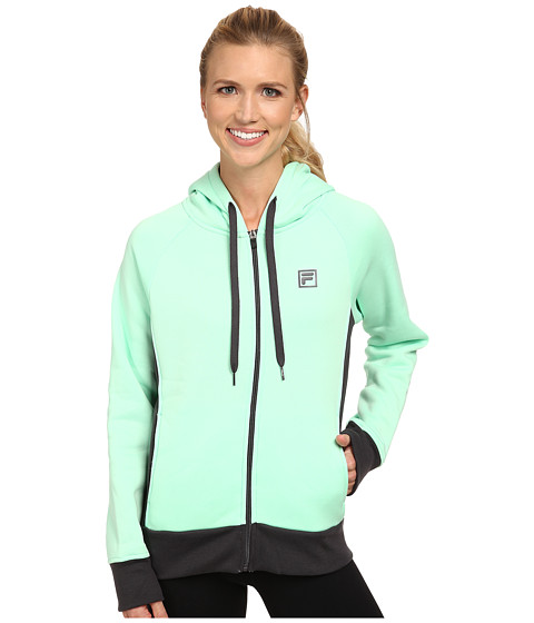 Fila - Full Zip Sweatshirt (Honeydew/Nine Iron) Women