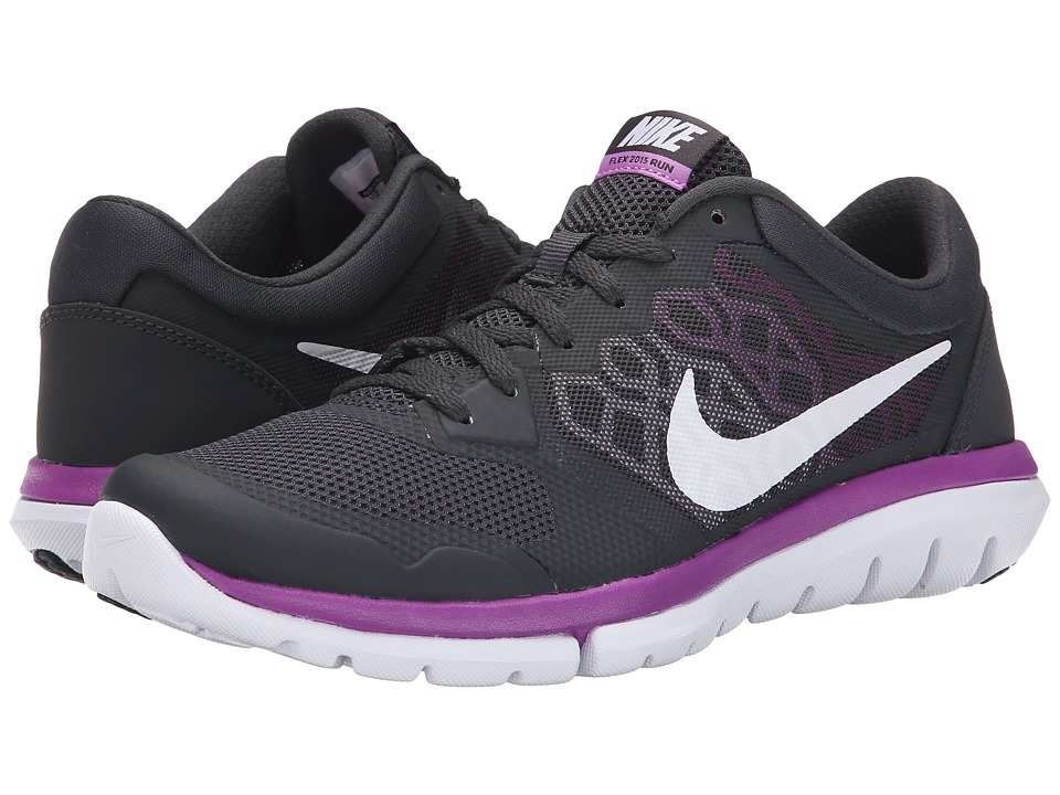 Nike - Flex 2015 RN (Anthracite/Fuchsia Glow/Vivid Purple/White) Women's Running Shoes