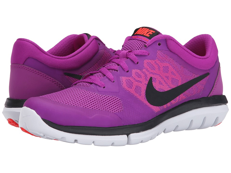 Nike - Flex 2015 RN (Vivid Purple/Hot Lava/Bright Crimson/Black) Women