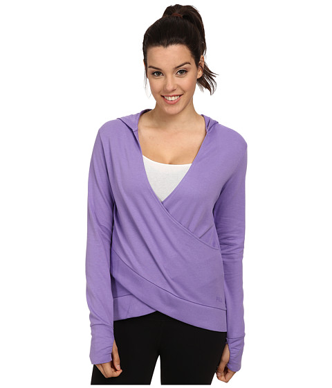 Fila - Slouchy Wrap Front Hoodie (Purple Hebe/Black) Women's Sweatshirt