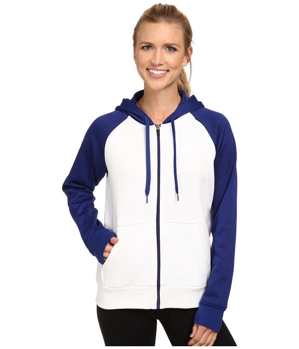 Fila - Noki Full Zip Hoodie (White/Twilight) Women's Sweatshirt