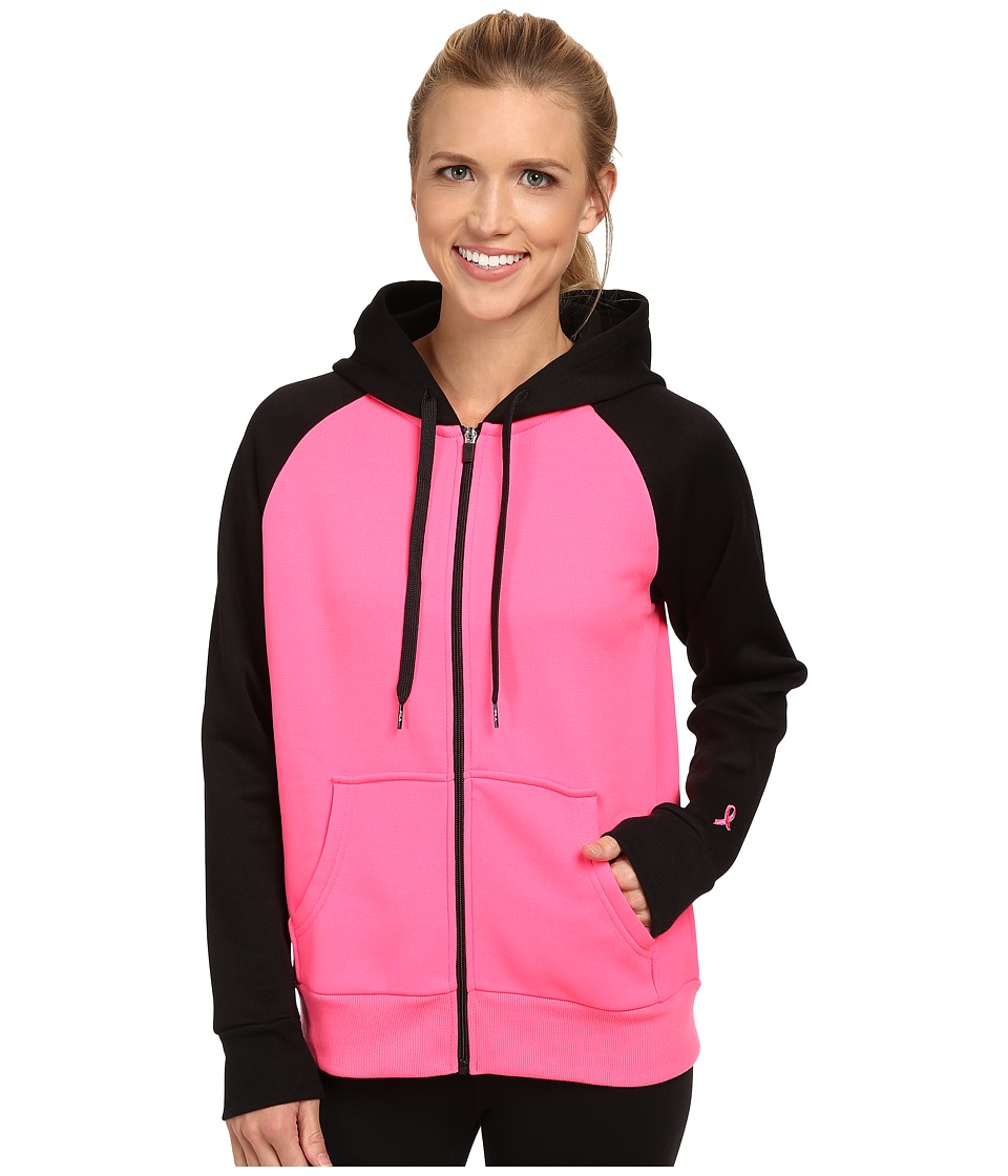 Fila - Noki Full Zip Hoodie (Knockout Pink/Black) Women's Sweatshirt
