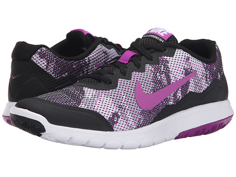 Nike - Flex Experience Run 4 Premium (Black/White/Vivid Purple) Women's Running Shoes