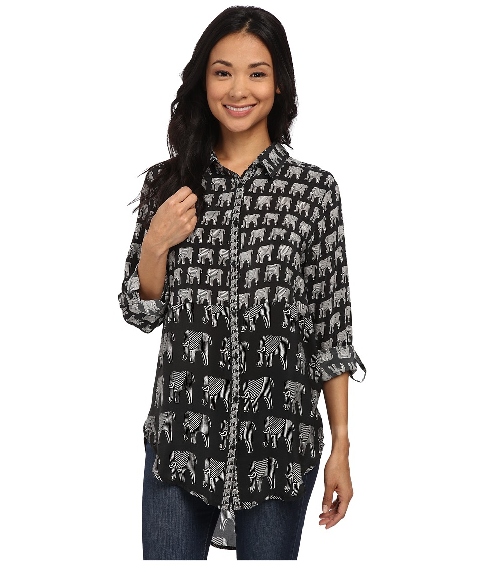 Tolani - Evelyn Top (Elephants) Women's Blouse