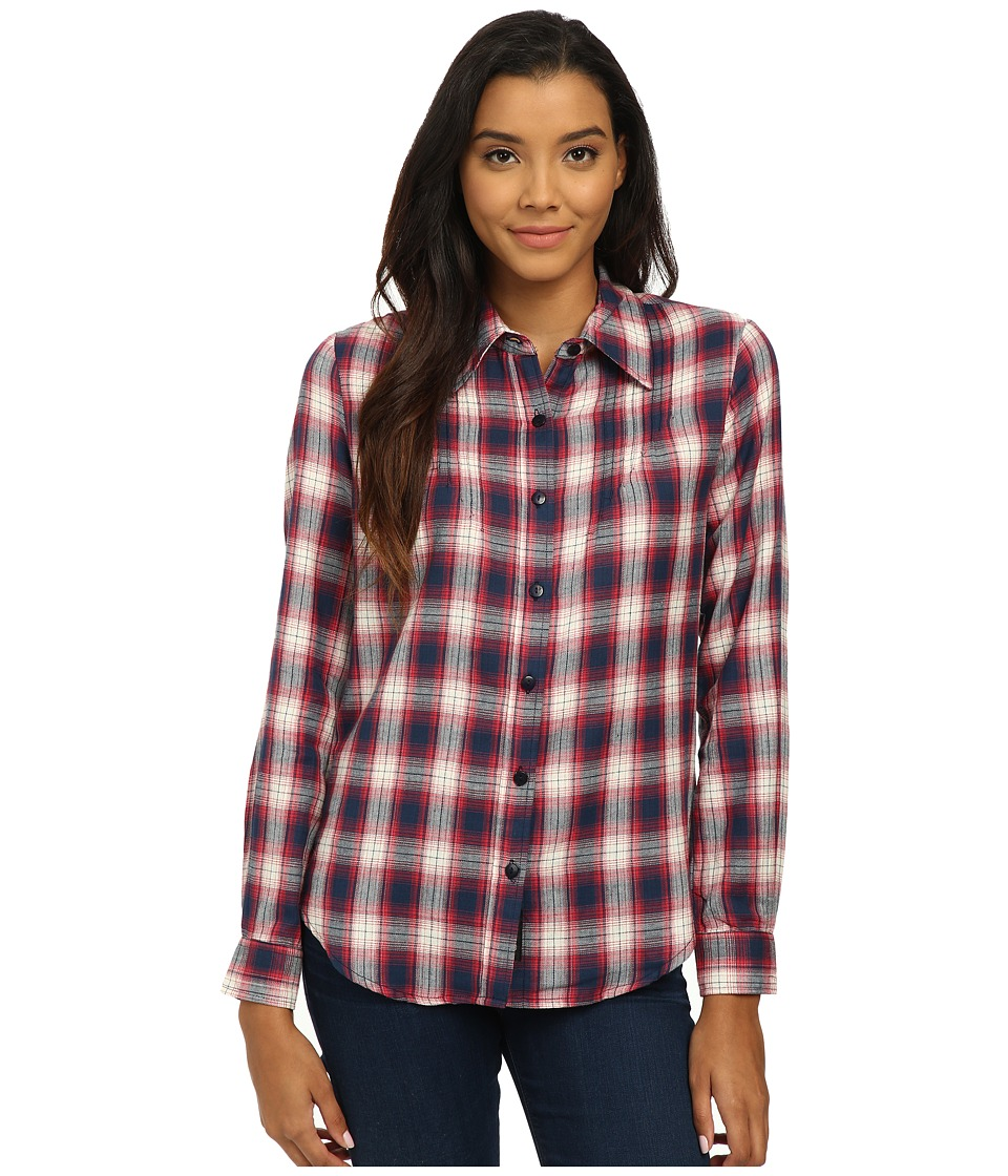Tolani - Ava Top (Red) Women's Long Sleeve Button Up