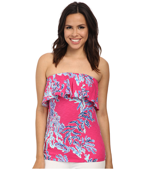 Lilly Pulitzer - Wiley Tube Top (Capri Pink Samba) Women's Blouse