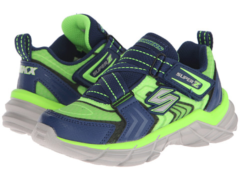 SKECHERS KIDS - Rive Start-Up (Little Kid/Big Kid) (Lime/Navy) Boys Shoes