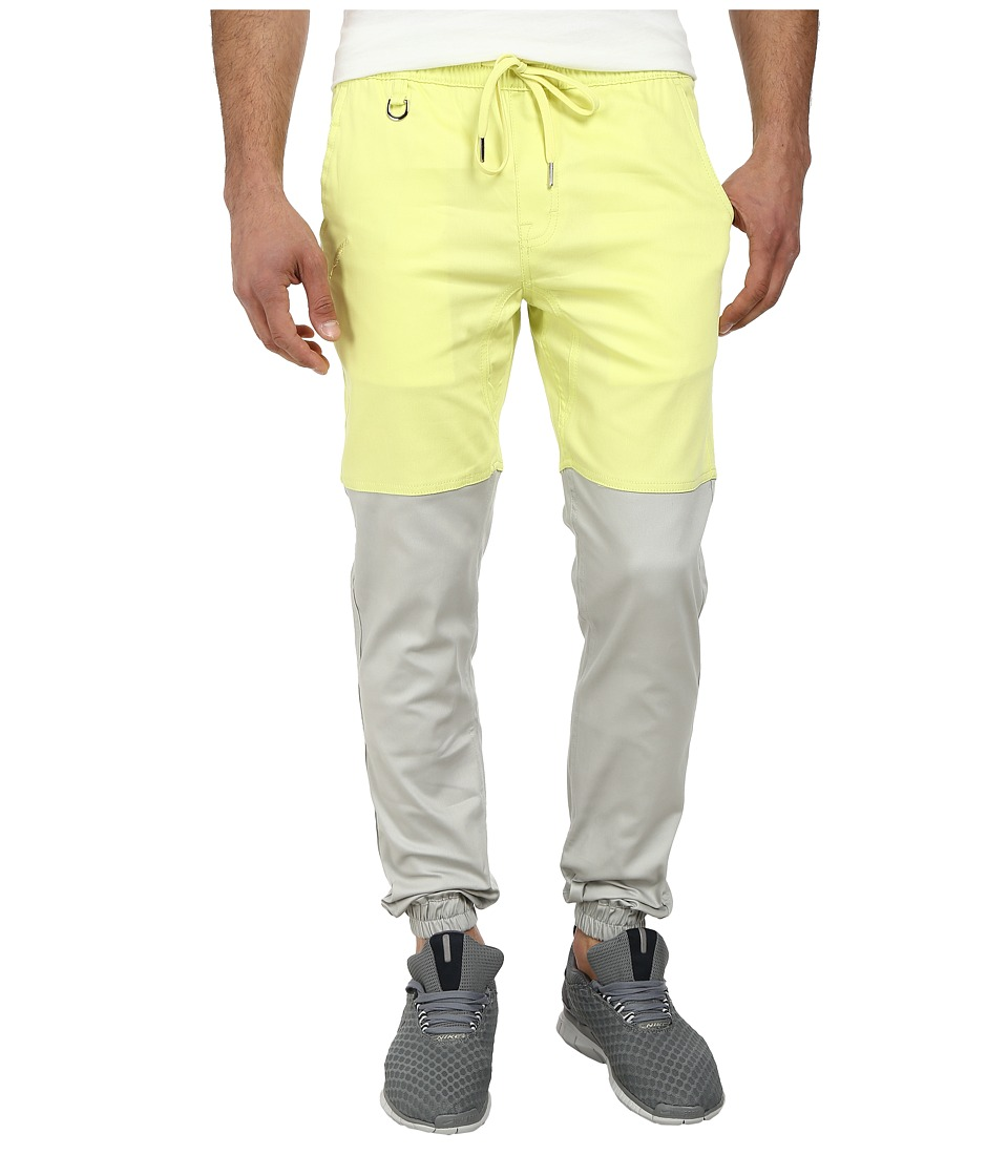Publish - Two-Tone Joggers Pants (Neon/Grey) Men's Casual Pants