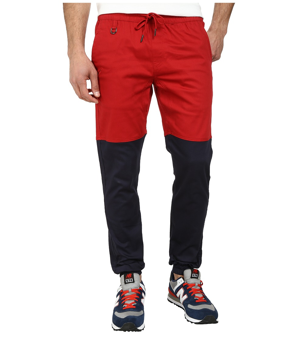 Publish - Two-Tone Joggers Pants (Dark Red/Navy) Men's Casual Pants