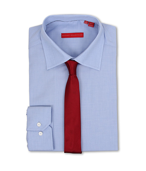 Report Collection - Dress Shirt 209313 (Sky Blue/Indigo) Men's Clothing