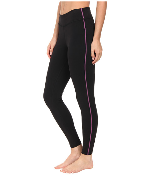 Fila - Essential Tight Leggings (Black/Purple Cactus Flower) Women's Workout